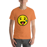 Emoji T-Shirt Store | Hot Face emoji t-shirt in Orange
