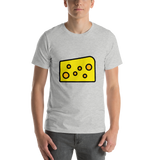 Emoji T-Shirt Store | Cheese Wedge emoji t-shirt in Light gray