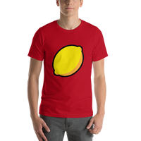 Emoji T-Shirt Store | Lemon emoji t-shirt in Red