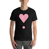 Emoji T-Shirt Store | Heart Exclamation emoji t-shirt in Black