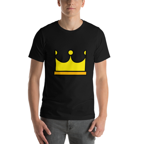 Emoji T-Shirt Store | Crown emoji t-shirt in Black