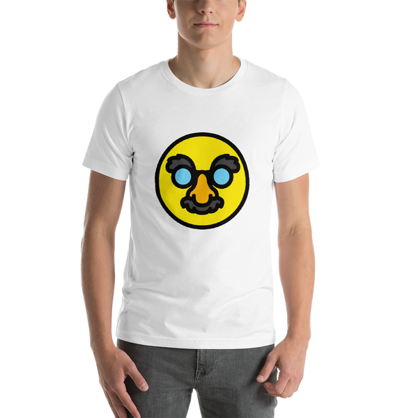 Emoji T-Shirt Store | Disguised Face emoji t-shirt in White