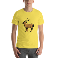Emoji T-Shirt Store | Deer emoji t-shirt in Yellow