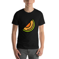 Emoji T-Shirt Store | Melon emoji t-shirt in Black
