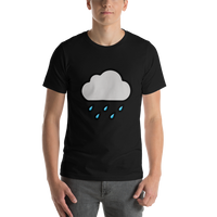 Emoji T-Shirt Store | Cloud With Rain emoji t-shirt in Black