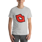 Emoji T-Shirt Store | Kiss Mark emoji t-shirt in Light gray