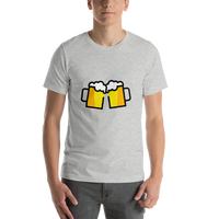 Emoji T-Shirt Store | Clinking Beer Mugs emoji t-shirt in Light gray