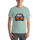 Emoji T-Shirt Store | Oncoming Automobile emoji t-shirt in Green
