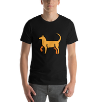 Emoji T-Shirt Store | Dog emoji t-shirt in Black