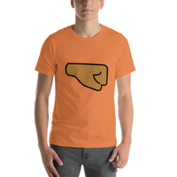 Emoji T-Shirt Store | Right Facing Fist, Medium Dark Skin Tone emoji t-shirt in Orange