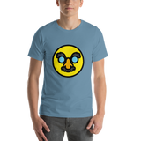 Emoji T-Shirt Store | Disguised Face emoji t-shirt in Blue