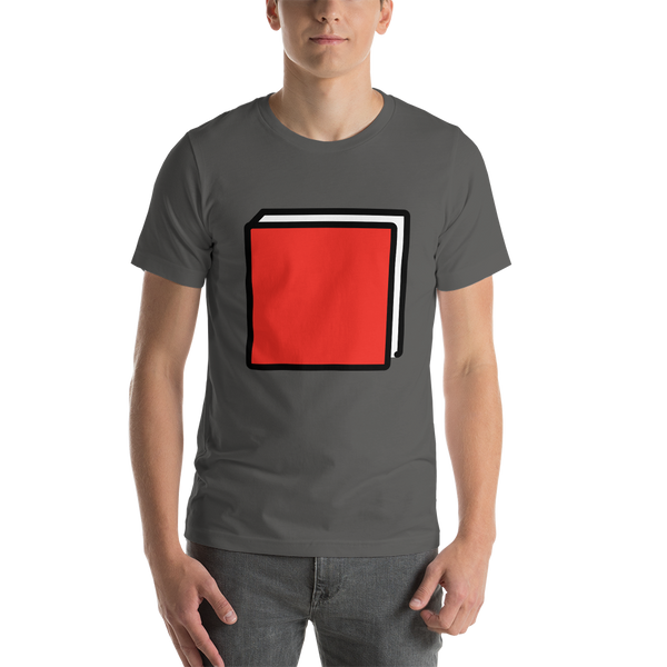 Emoji T-Shirt Store | Closed Book emoji t-shirt in Dark gray