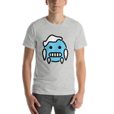 Emoji T-Shirt Store | Cold Face emoji t-shirt in Light gray