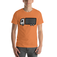 Emoji T-Shirt Store | Articulated Lorry emoji t-shirt in Orange