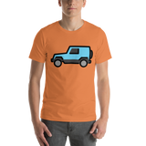 Emoji T-Shirt Store | Sport Utility Vehicle emoji t-shirt in Orange