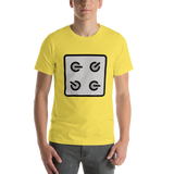 Emoji T-Shirt Store | Control Knobs emoji t-shirt in Yellow