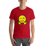 Emoji T-Shirt Store | Hugging Face emoji t-shirt in Red