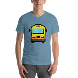 Emoji T-Shirt Store | Oncoming Bus emoji t-shirt in Blue