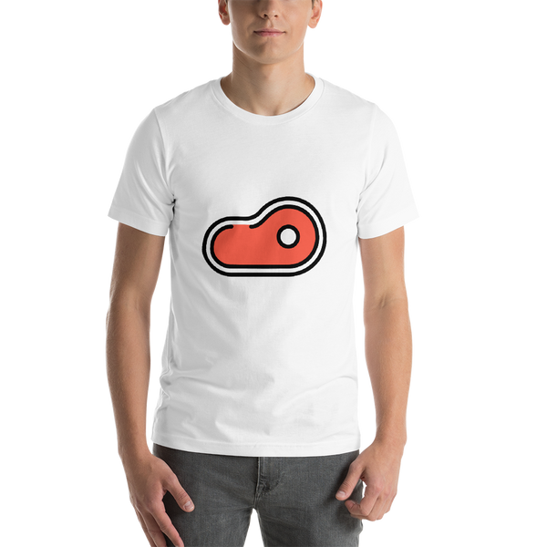 Emoji T-Shirt Store | Cut Of Meat emoji t-shirt in White