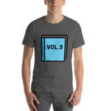 Emoji T-Shirt Store | Blue Book emoji t-shirt in Dark gray