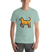 Emoji T-Shirt Store | Dog emoji t-shirt in Green