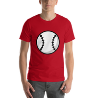 Emoji T-Shirt Store | Baseball emoji t-shirt in Red