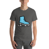 Emoji T-Shirt Store | Ice Skate emoji t-shirt in Dark gray