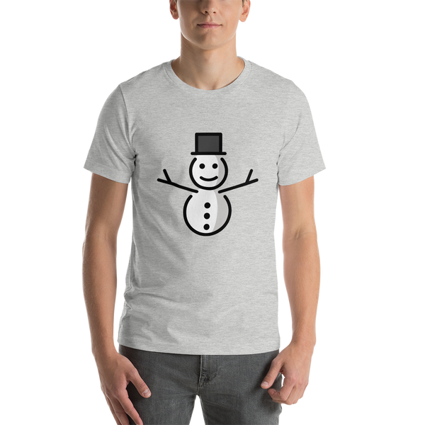 Emoji T-Shirt Store | Snowman Without Snow emoji t-shirt in Light gray
