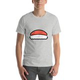 Emoji T-Shirt Store | Sushi emoji t-shirt in Light gray