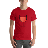 Emoji T-Shirt Store | Wine Glass emoji t-shirt in Red