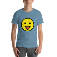 Emoji T-Shirt Store | Face With Tongue emoji t-shirt in Blue