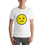 Emoji T-Shirt Store | Confused Face emoji t-shirt in White