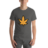 Emoji T-Shirt Store | Maple Leaf emoji t-shirt in Dark gray