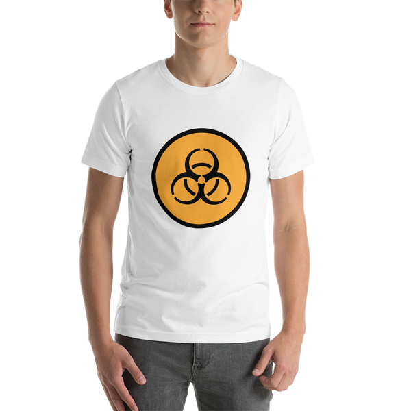 Emoji T-Shirt Store | Biohazard emoji t-shirt in White