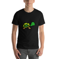 Emoji T-Shirt Store | Turtle emoji t-shirt in Black