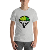 Emoji T-Shirt Store | Parachute emoji t-shirt in Light gray