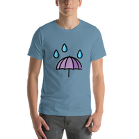 Emoji T-Shirt Store | Umbrella With Rain Drops emoji t-shirt in Blue