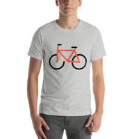 Emoji T-Shirt Store | Bicycle emoji t-shirt in Light gray