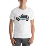 Emoji T-Shirt Store | Police Car emoji t-shirt in White