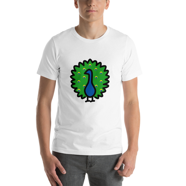 Emoji T-Shirt Store | Peacock emoji t-shirt in White
