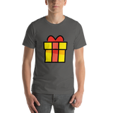 Emoji T-Shirt Store | Wrapped Gift emoji t-shirt in Dark gray