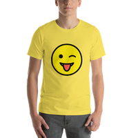Emoji T-Shirt Store | Winking Face With Tongue emoji t-shirt in Yellow