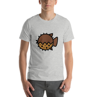 Emoji T-Shirt Store | Blowfish emoji t-shirt in Light gray