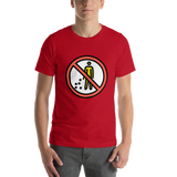 Emoji T-Shirt Store | No Littering emoji t-shirt in Red