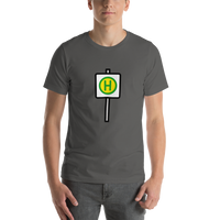Emoji T-Shirt Store | Bus Stop emoji t-shirt in Dark gray
