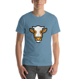 Emoji T-Shirt Store | Cow Face emoji t-shirt in Blue