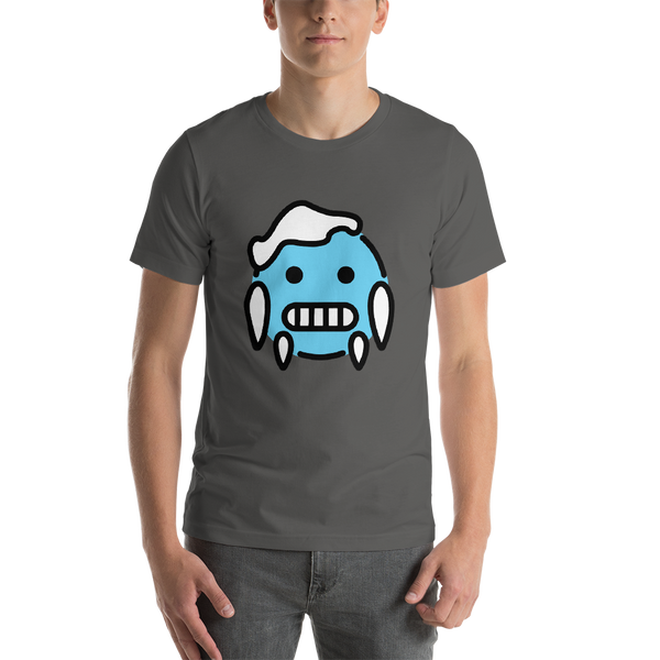Emoji T-Shirt Store | Cold Face emoji t-shirt in Dark gray