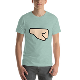 Emoji T-Shirt Store | Right Facing Fist, Light Skin Tone emoji t-shirt in Green
