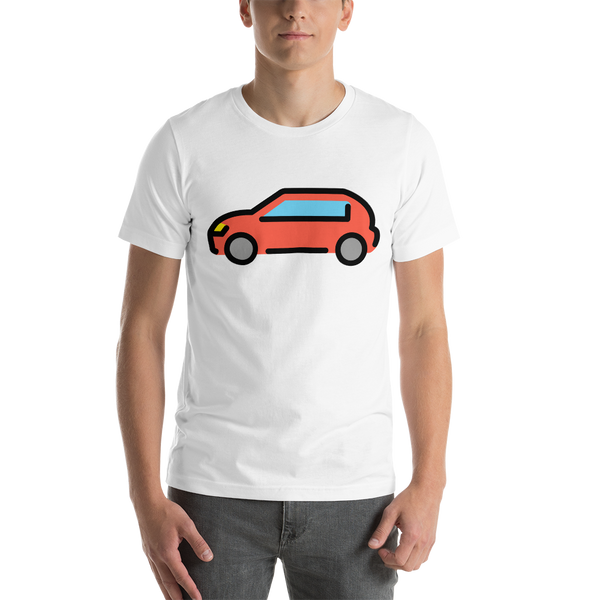 Emoji T-Shirt Store | Automobile emoji t-shirt in White