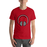 Emoji T-Shirt Store | Headphones emoji t-shirt in Red